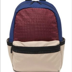Lesportsac cream color block backpack